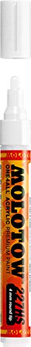 Molotow ONE4ALL Acrylic Paint Marker, 4mm, Signal White, 1 Each (227.211)