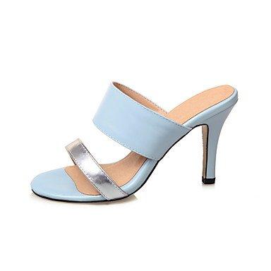 LvYuan Mujer Sandalias Semicuero Verano Combinación Azul Rosa Almendra 7'5 - 9'5 cms Blue