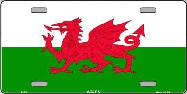 Wales Flag Vanity Metal Novelty License Plate Tag Sign