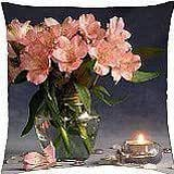 Pink Flowers - Throw Pillow Cover Case (18