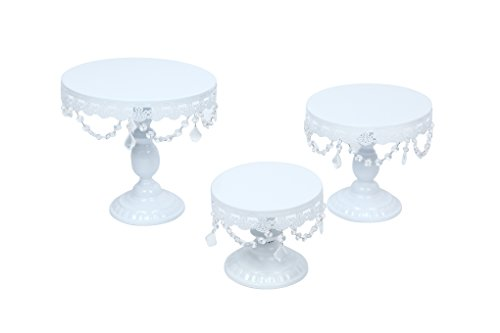 Lilac Beauty Wedding Cake Stands Plates Set 3 Tiers Cup Cupcakes Round Vintage Bling Pedestal (Pedestal Stand Cupcake)