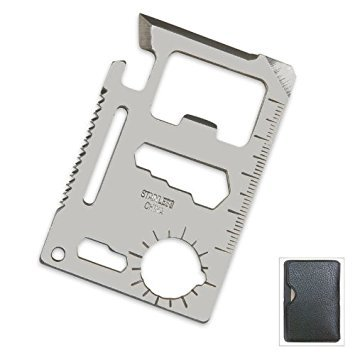 Generic Multi-Purpose Credit Card Survival Aid Ranger Tool with 12 Unique Features (Rangers Credit Card)