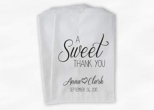 Peachy Personalized Candy Buffet Bags A Sweet Thank You Wedding Home Interior And Landscaping Palasignezvosmurscom