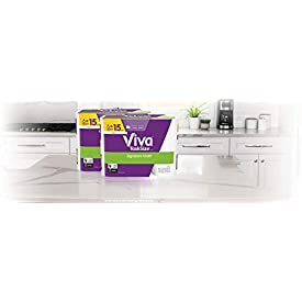 Viva Signature Cloth TaskSize Paper Towels, Soft & Strong Kitchen Paper Towels, White, 12 Family Rolls (143 sheets per roll)