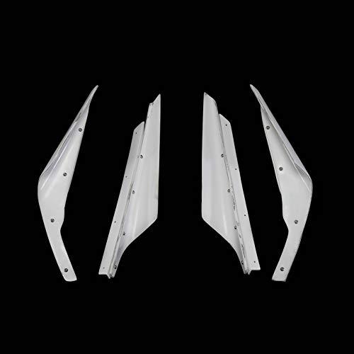 - FRP Fiber Glass VRS Style Hyper Canard Fiberglass Bumper Splitter Garnish (Varis Front Bumper only, not for Wide Body) for Mitsbishi EVO 10 Evolution 09 Version