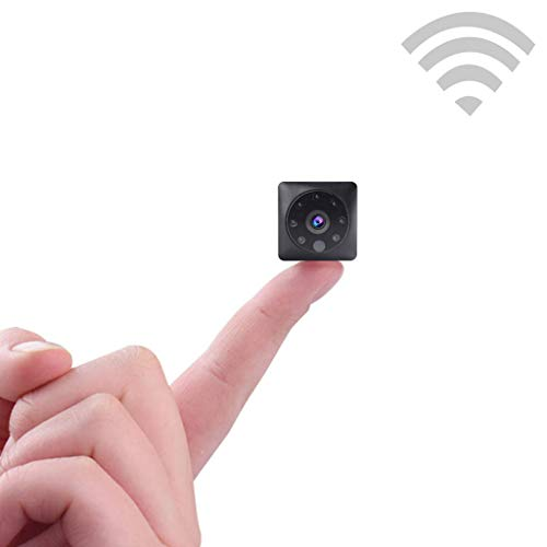 Spy Camera Wireless WiFi Video Surveillance, Mini Spy Camera Million HD Lens, Hidden Nanny Cam 1080P HD Motion Detection for Family Office,16GB,3.6x3.3x3.3cm