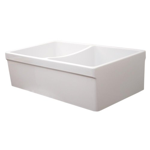 Whitehaus Collection WHQDB532-WHITE Quatro Alcove Sink, White ()