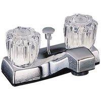 Hndl Lav Faucet - Toolbasix Lav Faucet 2-Hndl Popup Chrome PF4201A-P