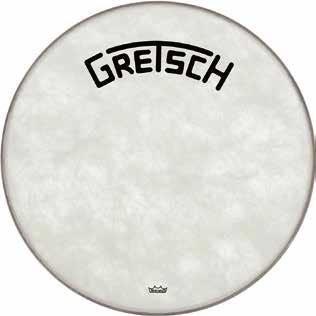 - Gretsch Drums GRETSCH GRDHFS22B FIBERSKIN BROADCASTER 22IN BASS DRUM HEAD 22 in.