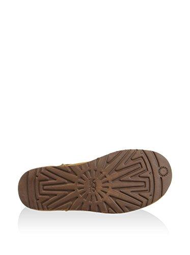 Botín UGG Classic Pendleton Mini en piel marrón cuero Marrón