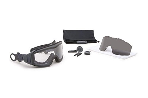 ESS Eyewear 740-0516 Profile Pivot Goggle - Gray w/1 Clear lens & 1 Smoke Gray - Ess Nvg Goggles