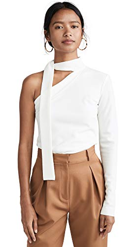 Bec & Bridge Women's Electric Hearts Tie Shirt, Ivory, White, 6 (Bridge Clothing)
