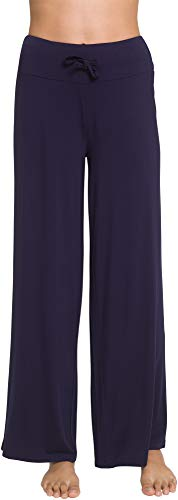 NEIWAI Women's Pajamas Pants Yoga Bottoms Wide Leg Lounge Pants Navy Blue 2X