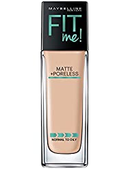 Maybelline Fit Me Matte + Poreless Liquid Foundation Makeup, Classic Ivory, 1 fl. oz. Oil-Free Foundation