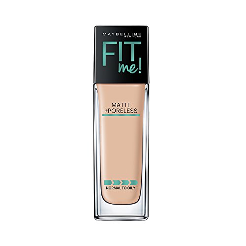 (Maybelline New York Fit Me Matte + Poreless Liquid Foundation Makeup, Classic Ivory, 1 fl. oz. Oil-Free Foundation)