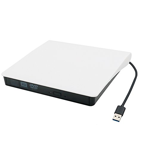 External DVD Drive USB 3.0 Transmission Slim Portable External DVD CD +/-RW Writer/Burner/Rewriter ROM Drive Perfect for Mac OS/Win7/Win8/Win10/Vista PC Desktop Laptop (White) by Electype (Image #7)