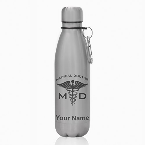 Water Bottle - MD Medical Doctor - Personalized Engraving Included by SkunkWerkz