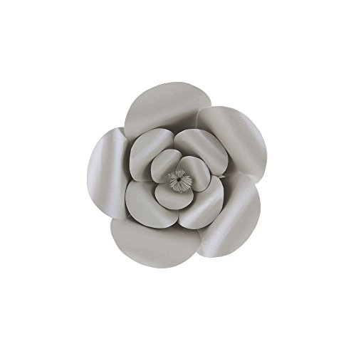 "Mega Crafts 8"" Handmade Paper Flower in Silver 