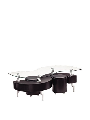 Global Furniture Black Occasional Coffee Table with Silver L