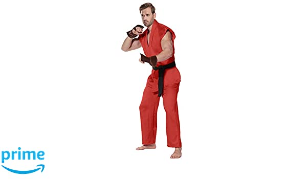 Adult men Ken street Fighter Role Play Kungfu/&WuShu Halloween Party Costumes