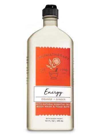 Bath & Body Works Aromatherapy Energy - Orange + Ginger Body Wash & Foam Bath, 10 Fl Oz ()