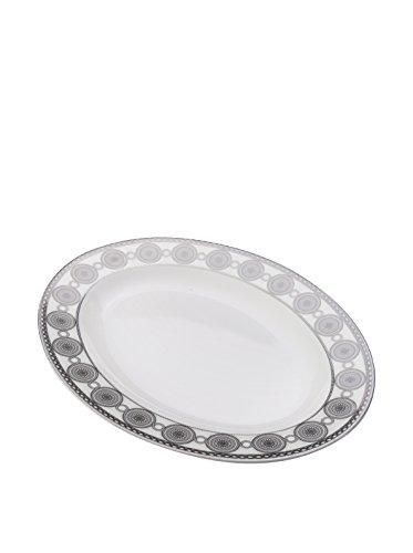 - Mikasa Valencia Oval Platter - White|Gray