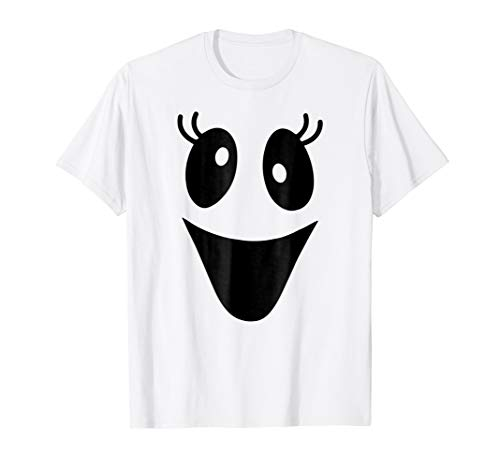 Cute Female Ghost Face Shirt for Halloween