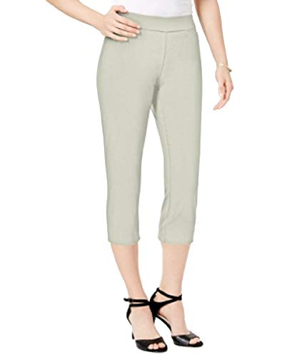 JM Collection Petite Pull-On Capri Pants (Stonewall, PM)