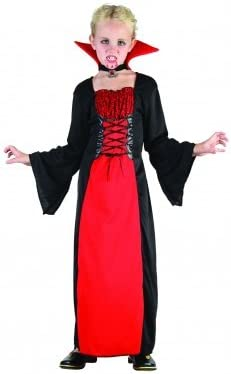 Desconocido Disfraz de vampiresa para niña| ideal para Halloween ...