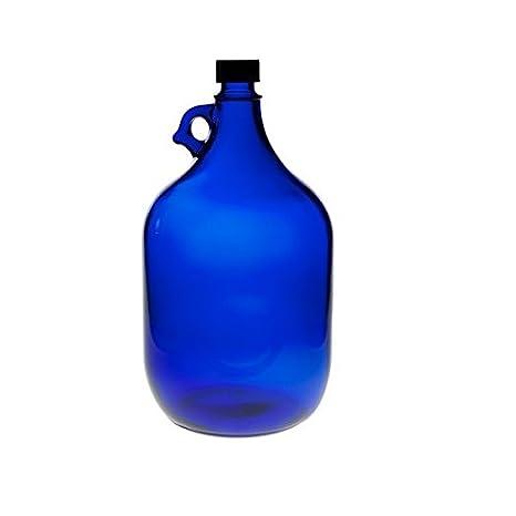 Viva Haushaltswaren - Botella grande (cristal, tapón de rosca, capacidad de 5 litros), color azul: Amazon.es: Hogar