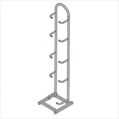 CanDo 10-3120 Plyometric Rack, Vertical, 5-Ball Capacity