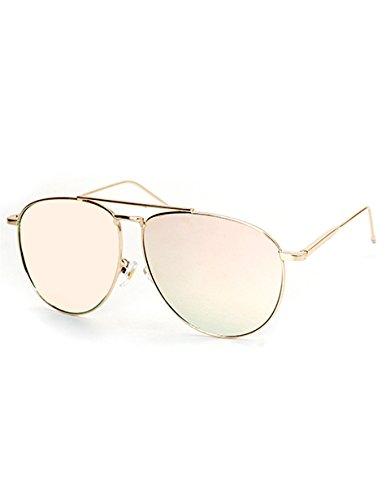 4fc46624cce8 O2 Eyewear 97025 Premium Oversized Flat Aviator Mirrored Sunglass Womens  Mens