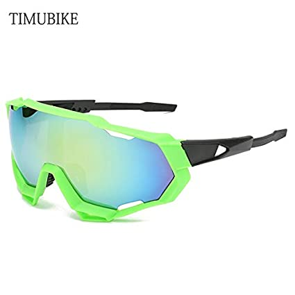0593666eee2 BUILD 2018 S100 Unisex Cycling Glasses UV400 Bike Glasses Cycling Eyewear  Outdoor Sports Sunglasses MTB Bicycle Glasses Fishing glass 100 green   Amazon.in  ...
