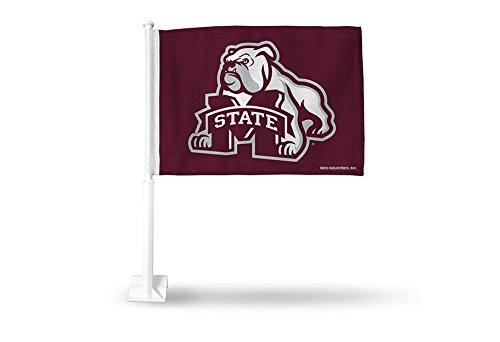 NCAA Mississippi State Bulldogs Car Flag, Maroon, with White -