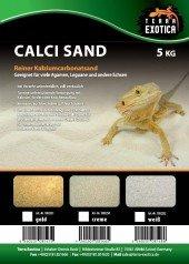 Calci Sand weiß 10Kg, Kalziumcarbonatsand, Terrarieneinstreu