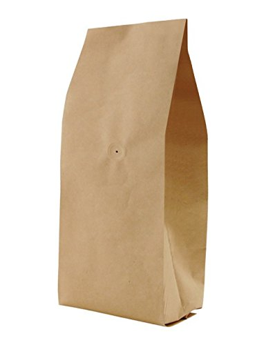 BAP 50 Pack 5 LB Kraft Side Gusseted Bag with Valve for Coffee