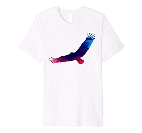 Trippy Magical Flying Eagle Wings Silhouette T-Shirt (Wing Shirt Eagle)