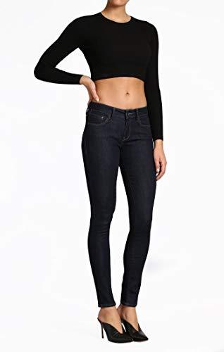 Deconstructed Skinny Leg Jean - Mavi Women's Alexa Mid-Rise Skinny Jeans, Rinse Supersoft, 27W X 30L