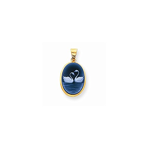 Baby Agate Cameo Pendant - 1