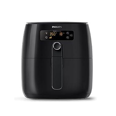 Philips Airfryer, Avance Digital TurboStar, Fry Healthy with 75% Less Fat, HD9641/96, Black