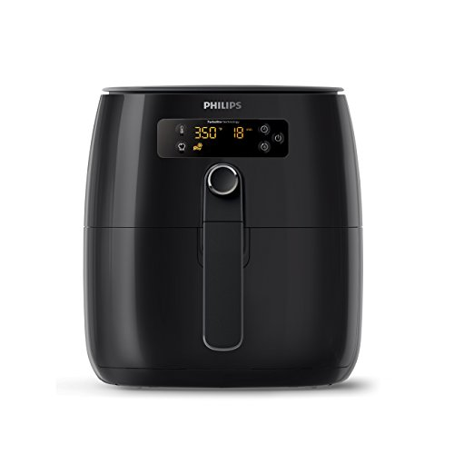 Philips Airfryer, Avance Digital TurboStar, Fry Healthy with 75% Less Fat, HD9641/96, Black