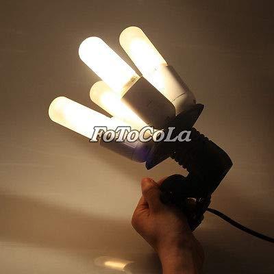FidgetFidget Studio Photo Adapter Holder with Ports f Four 4 Continuous Light Bulb E27 4in1 by FidgetFidget (Image #3)