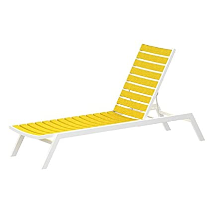 Amazon.com: Euro chaise Final: acabado en color blanco ...