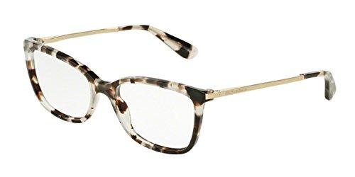 Dolce&Gabbana DG3243 Eyeglass Frames 2888-54 - Cube Havana Fog - Price Gabbana Dolce And Glasses