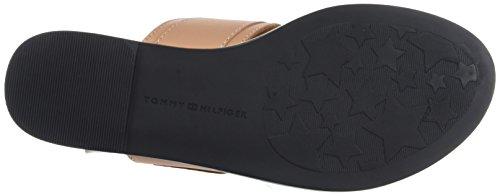 Oversized Buckle Hilfiger Femme Nude Salomés Sandal Silky Flat Tommy 297 Marron Cptnq1q