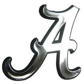 NCAA Alabama Crimson Tide Chrome Automobile Emblem]()
