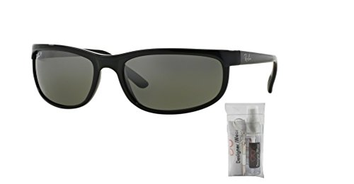 Ray-Ban RB2027 PREDATOR 2 601/W1 62M Black/Dark Grey Polarized Sunglasses For Men For Women