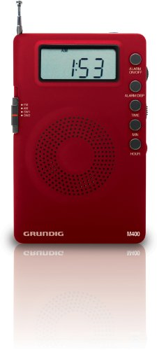 Eton Grundig M400 Super Compact – Goes Everywhere - AM/FM/Shortwave Digital Radio - Red (NGM400R)