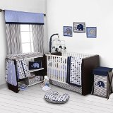 Best Bacati Baby Cribs - Bacati Elephants Blue/Grey 10 Piece Crib Set including Review