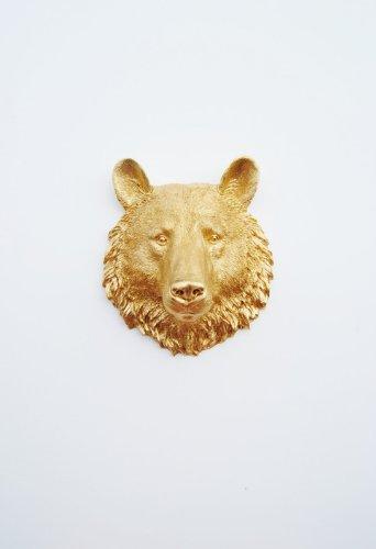 resin bear head - 9